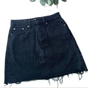 Glassons Black Denim Skirt Size 6